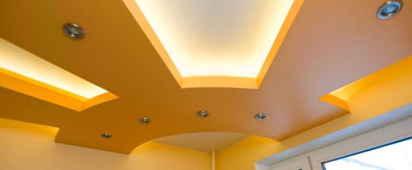 Как крепить натяжной потолок к гипсокартону