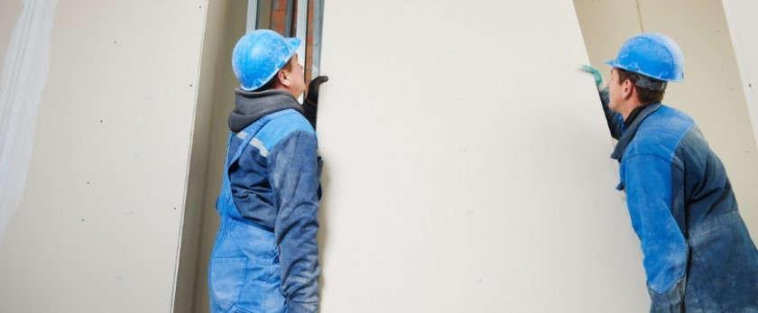 Как правильно установить гипсокартон на стену