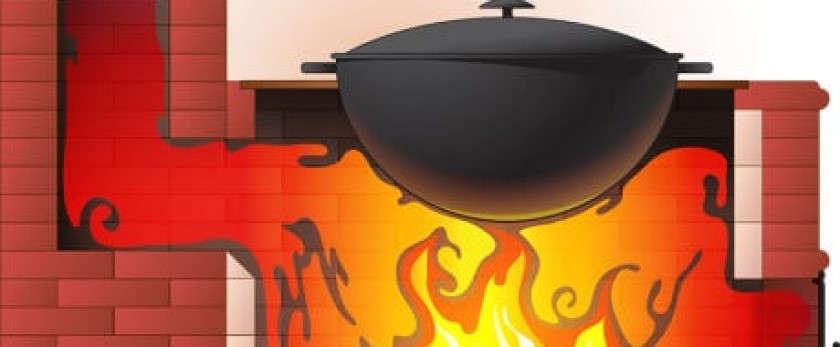 Кирпичная печь для барбекю с казаном своими руками: от простой модели до печного комплекса