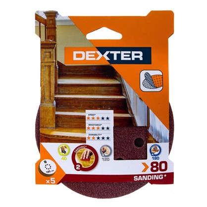 Абразивный круг для ЭШМ Dexter P80 125 мм 5 шт.