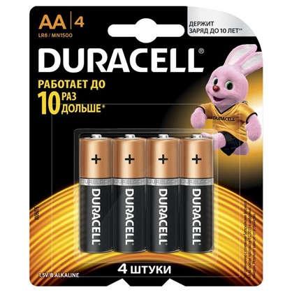 Батарейка алкалиновая Duracell Basic АА 4 шт.