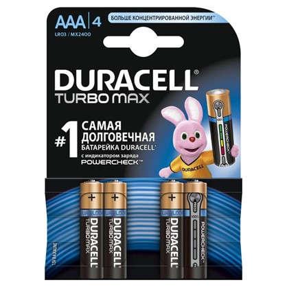 Батарейка алкалиновая Duracell TurboMax ААА 4 шт.