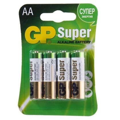 Батарейка алкалиновая GP AA 15А 4 шт.