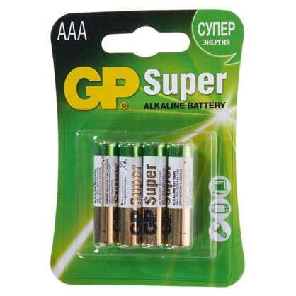 Батарейка алкалиновая GP AAA 24 А 4 шт.
