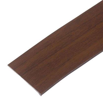 Бленда для пластикового карниза 250 см пластик цвет темный орех