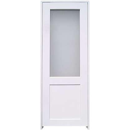 Блок дверной остеклённый Акваплюс 70x200 см ПВХ с фурнитурой