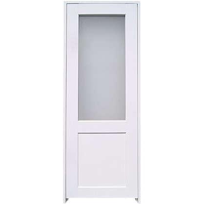 Блок дверной остеклённый Акваплюс 90x200 см ПВХ с фурнитурой