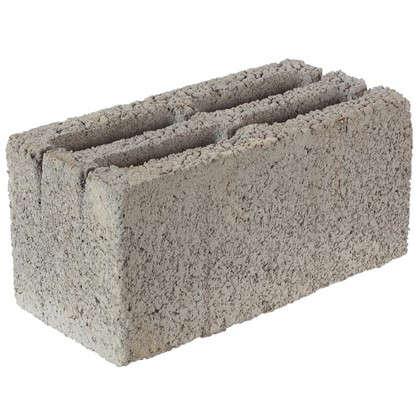 Блок стеновой керамзитобетонный (СКЦ) 390x190x188 мм