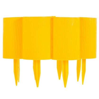 Бордюр декоративный Пеньки цвет жёлтый