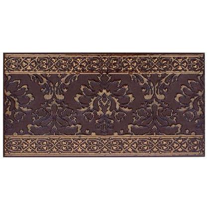 Бордюр Катар 13x25 см цвет коричневый