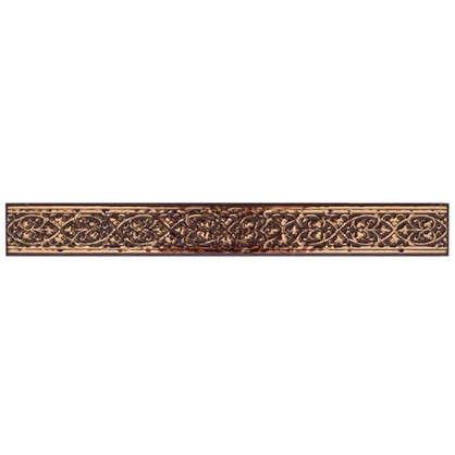 Бордюр Катар 2.8х25 см цвет коричневый