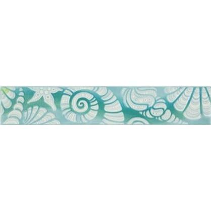 Бордюр Лагуна 35ЛГ606 6.5х36.4 см цвет голубой