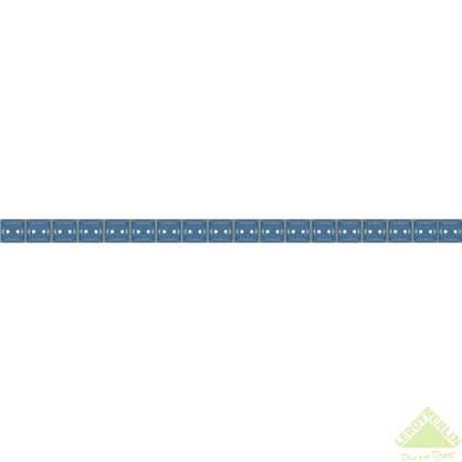 Бордюр Разрезной люстрированный 1.3х25 см цвет голубой