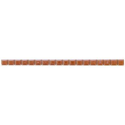Бордюр Разрезной люстрированный 13х250 мм цвет бежевый