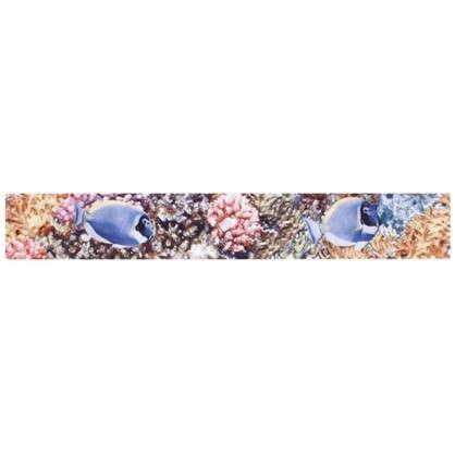 Бордюр Reef 4.5х30 см цвет желтый/синий