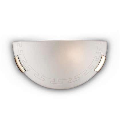 Бра Greca 1xE27x100 Вт металл/стекло цвет бронза