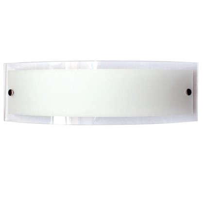 Бра Maxel Консул 2xE27x40 Вт 40x12 см металл/стекло цвет хром/белый