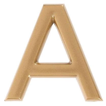 Буква А Larvij самоклеящаяся 40x32 мм пластик цвет матовое золото