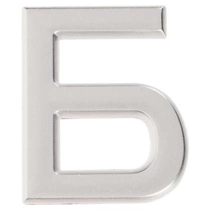 Буква Б Larvij самоклеящаяся 40x32 мм пластик цвет матовый хром