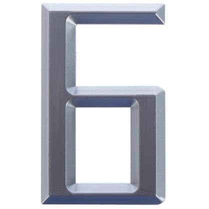 Буква Б Larvij самоклеящаяся 60x37 мм пластик цвет матовый хром