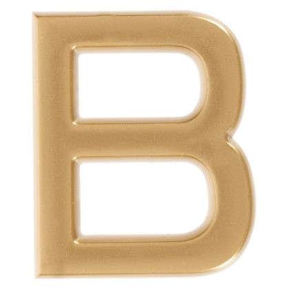Буква В Larvij самоклеящаяся 40x32 мм пластик цвет матовое золото