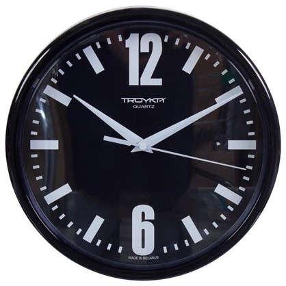 Часы настенные Черно-белые цифры диаметр 23 см