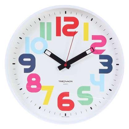 Часы настенные Цифры разноцветные диаметр 30 см