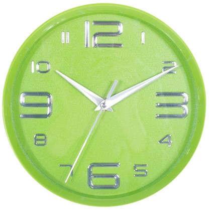 Часы настенные детские цвет зеленый диаметр 25 см
