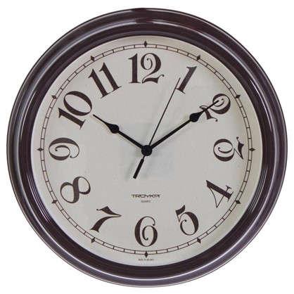 Часы настенные Классика цвет коричневый диаметр 30.5 см