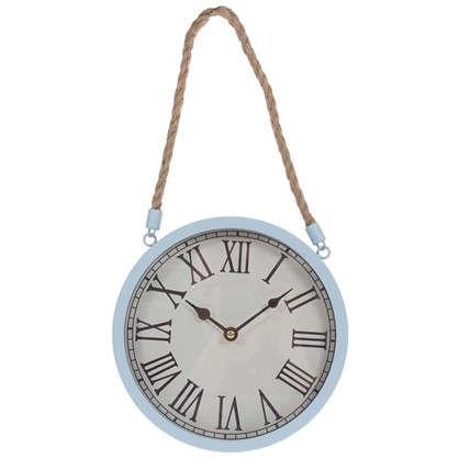 Часы настенные на веревке цвет бежевый диаметр 25 см