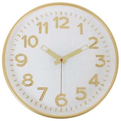 Часы настенные Золото цвет белый диаметр 30 см