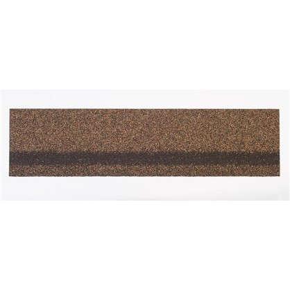 Черепица коньково-карнизная Технониколь цвет светло-коричневый