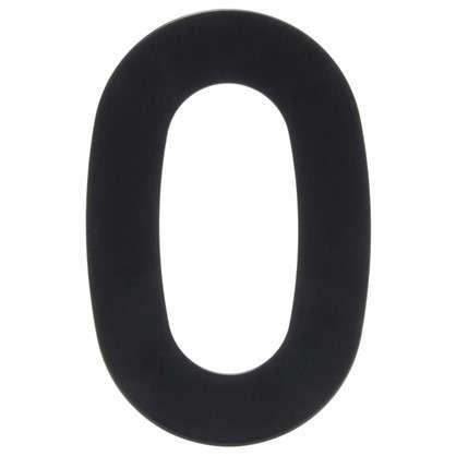 Цифра 0 Larvij большая цвет черный