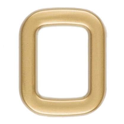 Цифра 0 самоклеящаяся 40х32 мм пластик цвет матовое золото