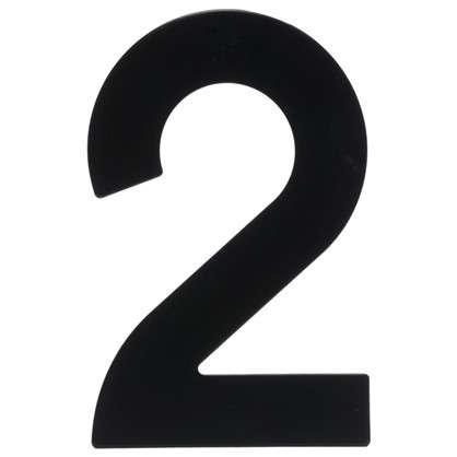 Цифра 2 Larvij большая цвет черный