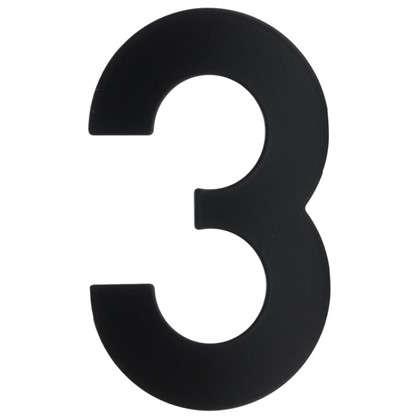 Цифра 3 Larvij большая цвет черный