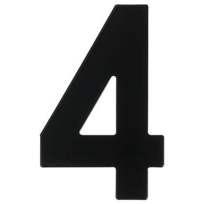 Цифра 4 Larvij большая цвет черный