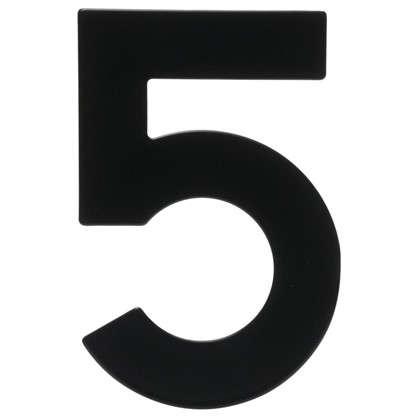 Цифра 5 Larvij большая цвет черный