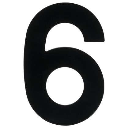 Цифра 6 Larvij большая цвет черный