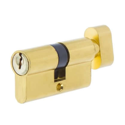 Цилиндр ключ/вертушка 30х30 золотоЕ 60 PB T01