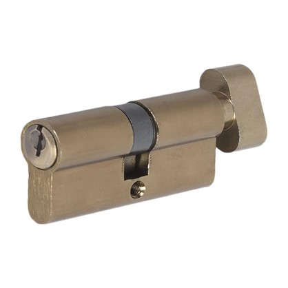 Цилиндр ключ/вертушка 35х35 бронза E AL 70 AB Т01