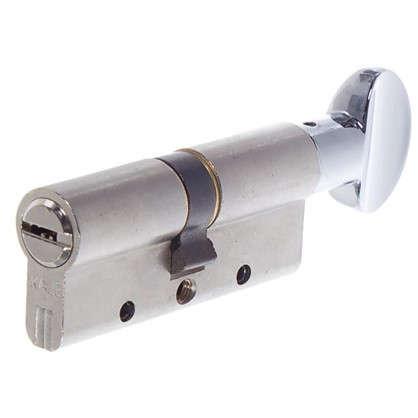 Цилиндр ключ/вертушка 35х35 никель164 DBM-E/70