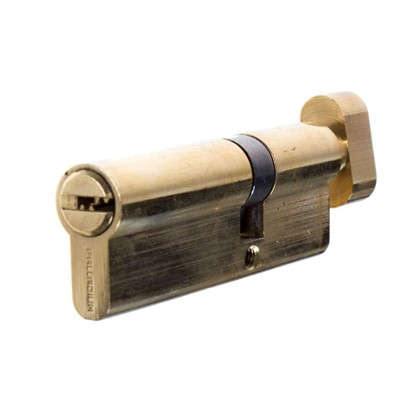 Цилиндр ключ/вертушка 35х55 золото 2J07 PB