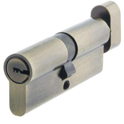 Цилиндр ключ/вертушка 40х40 бронза TT-CABNB4040AB