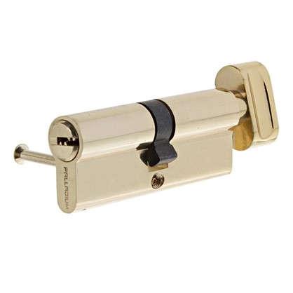 Цилиндр ключ/вертушка 40х40 золото 2J07 80 PB