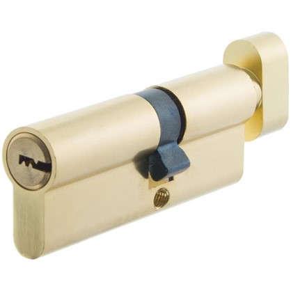 Цилиндр Standers 80 35x45 мм ключ-вертушка цвет золото