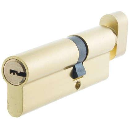Цилиндр Standers 90 35x55 мм ключ-вертушка цвет золото