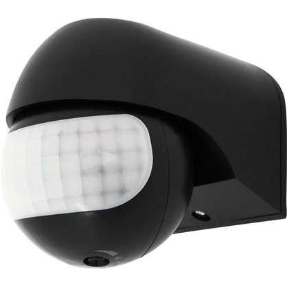 Датчик движения накладной радиус действия 5 метров 180 градусов 1100 Вт цвет чёрный IP44