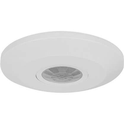 Датчик движения потолочный Extra Slim 360 градусов 1100 Вт цвет белый IP44