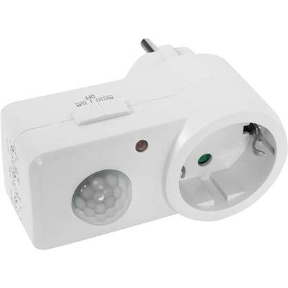 Датчик движения-розетка Smart Socket 1200 Вт цвет белый IP20